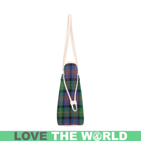 Image of Logan Ancient Tartan Clan Badge Clover Canvas Tote Bag C33 Bags