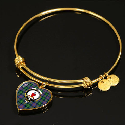 Logan Ancient Tartan Golden Bangle - Tm Jewelries