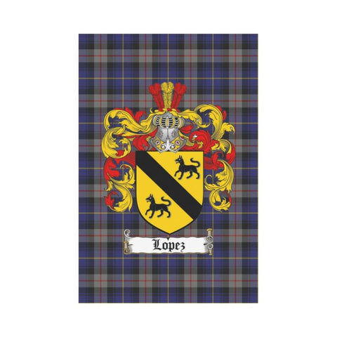 Image of Lopez Tartan Flag Clan Badge K9 |Home Decor| 1sttheworld