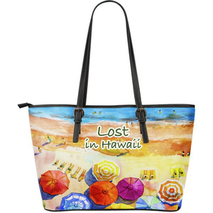 Lost In Hawaii Large Leather Tote Bag Dm9 Totes