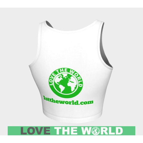 Image of Love The World Crop Top Tops