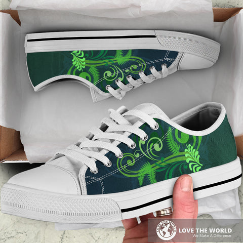 Image of Special Edition of New Zealand Fern - Fern Low Top Canvas Shoe for Men and Women