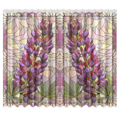 LUPINS OF NEW ZEALAND WINDOW CURTAIN C1