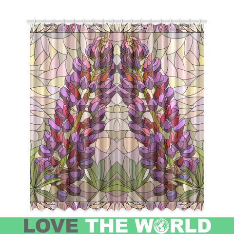 Lupins Of New Zealand Window Curtain C1 One Size / Lupine Window1 Window Curtain 50X84(Two Piece)