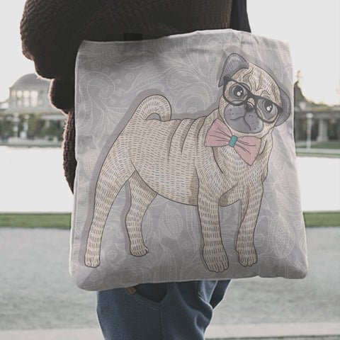 Pug Dog Tote Bag K4