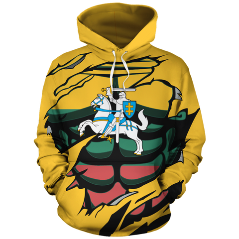 Lithuanian Vytis In Me All-Over Hoodie Yellow
