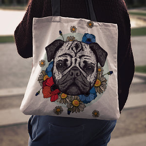 Pug Dog Tote Bag 2 K4