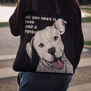 Pittbull Dog Tote Bag K4