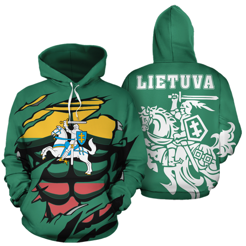 Image of Lithuanian Vytis In Me All-Over Hoodie JT6