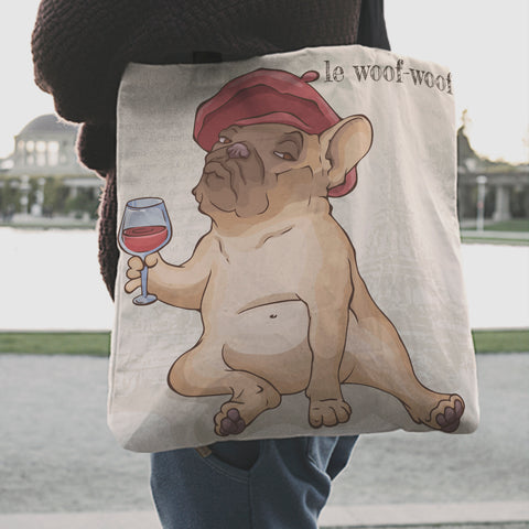 Image of Pug Dog Tote Bag 4 K4
