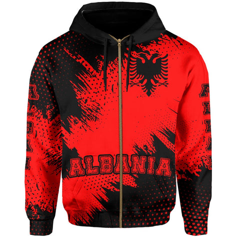 Albania Zipper Hoodie - Vincent Style