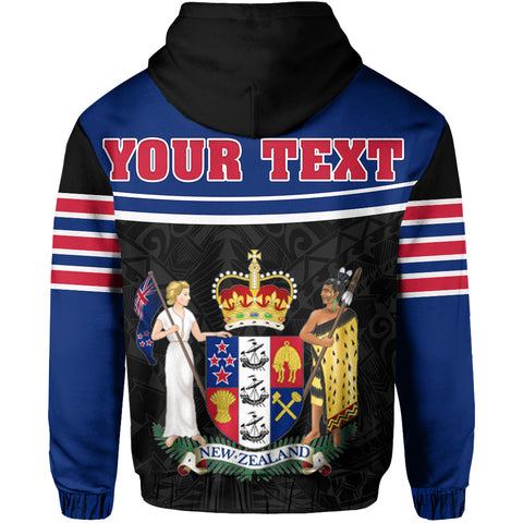 New Zealand Coat Of Arms Zip-Up Hoodie | 1sttheworld