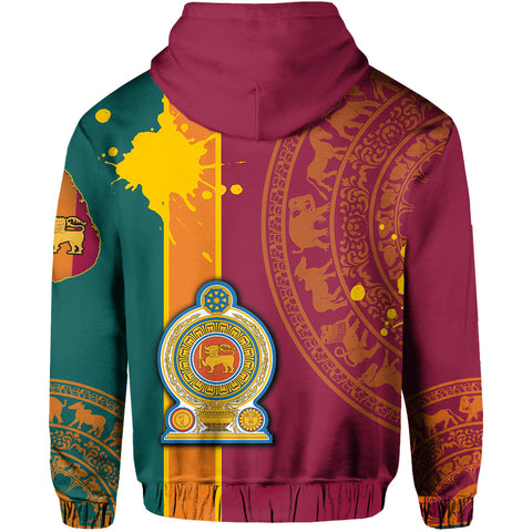 Image of Sri Lanka Spirit Zip Hoodie | 1sttheworld.com