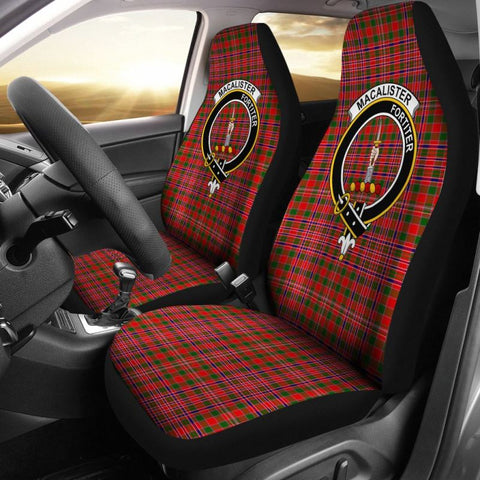 Image of Macalister Tartan Car Seat Cover - Clan Badge