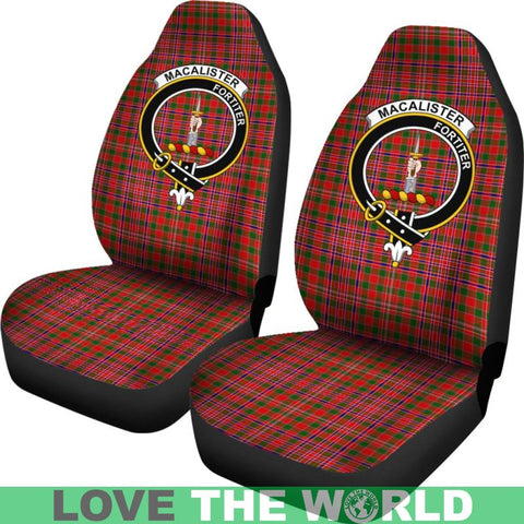 Image of Macalister Clan Badges Tartan Car Seat Cover Ha5