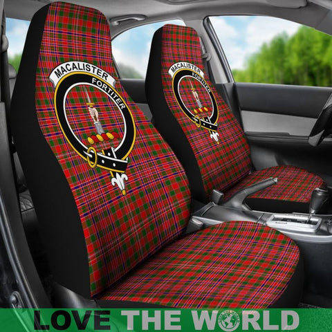 Macalister Clan Badges Tartan Car Seat Cover Ha5