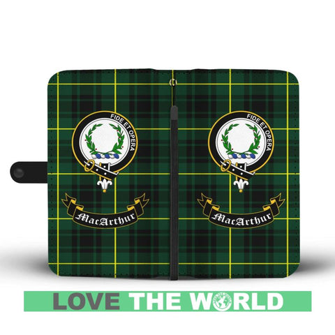 Image of Tartan Wallet Case - Macarthur Clan | Scottish Wallet Case | 1sttheworld