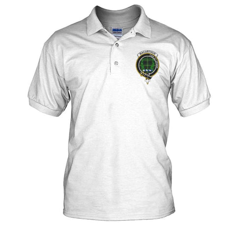 Macarthur (Or Arthur) Badge Men Tartan Polo Shirt | Over 300 Clans Tartan | Special Custom Design | Love Scotland