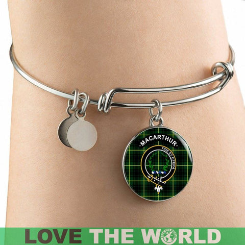 Image of Macarthur (Or Arthur) Clan Tartan Silver (Necklace/Bangle)  A9 |Accessories| 1sttheworld