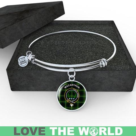 Macarthur (Or Arthur) Clan Tartan Silver (Necklace/Bangle)  A9 |Accessories| 1sttheworld
