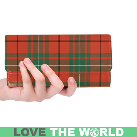 Macaulay Ancient Tartan Trifold Wallet V4 One Size / Macaulay Ancient Black Womens Trifold Wallet