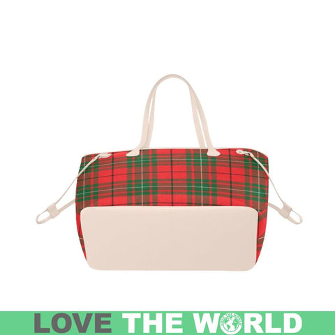Image of Macaulay Modern Tartan Clover Canvas Tote Bag C32 Bags