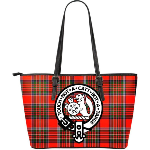 Macbean (Mcbean) Modern Tartan Handbag - Clan Badge Large Leather Tartan Bag