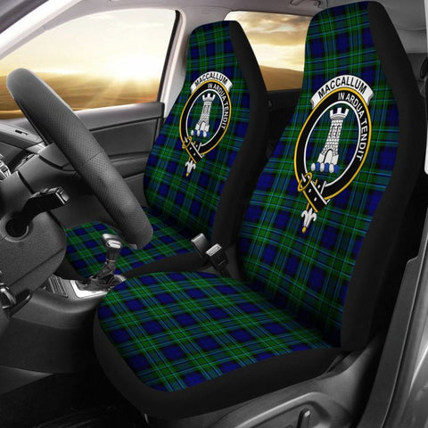 Maccallum Tartan Car Seat Cover - Clan Badge