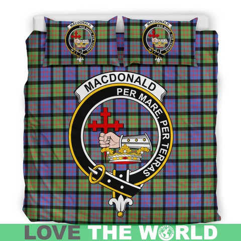 Macdonald Ancient Tartan Clan Badge Bedding Set Ha9 Bedding Set - Black Black / Queen/full Sets