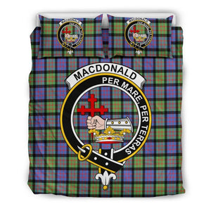 Macdonald Ancient Clan Badge Tartan Bedding Set Ha9 Bedding Set - Black Black / Queen/full Sets