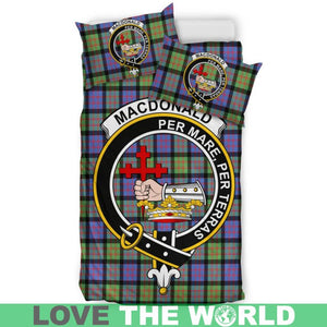 Macdonald Ancient Clan Badge Tartan Bedding Set K7