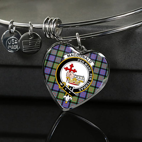 Image of Macdonald Ancient Tartan Silver Bangle - M8 Luxury Bangle (Silver) Jewelries