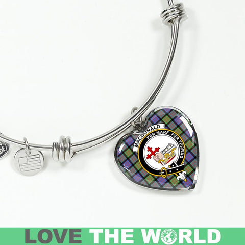 Image of Macdonald Ancient Tartan Silver Bangle - Sd1 Luxury Bangle (Silver) Jewelries