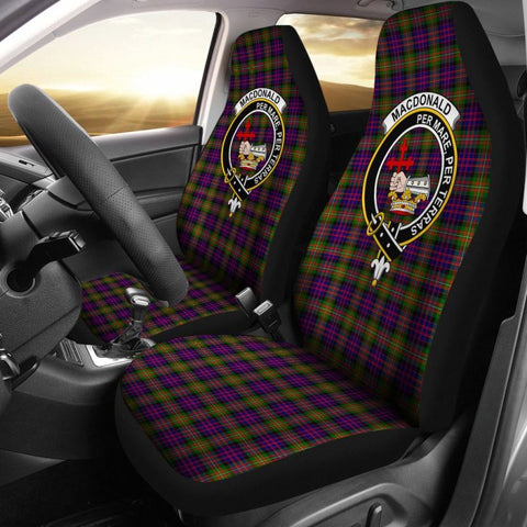 Macdonald Tartan Car Seat Cover - Clan Badge