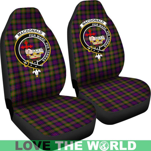 Image of Macdonald Clan Badges Tartan Car Seat Cover Ha5