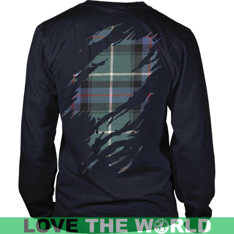 Image of Macdonald Lord Of The Isles Hunting Tartan Shirt And Tartan Hoodie In Me