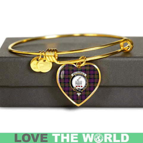 Macdonald Modern Tartan Golden Bangle - Tm Adjustable Bangle Jewelries
