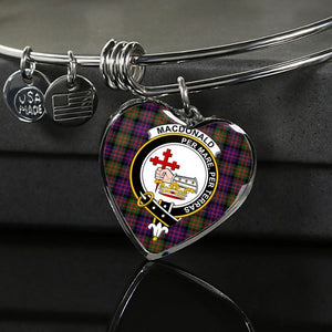 Macdonald Modern Tartan Silver Bangle - M8 Luxury Bangle (Silver) Jewelries