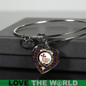 Macdonald Modern Tartan Silver Bangle - BN
