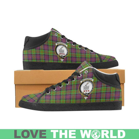 Image of Macdonald Of Clan Ranald Tartan Chukka Canvas Shoes - Tn Us5 / Clanranald White Womens Chukka Canvas
