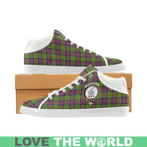 Macdonald Of Clan Ranald Tartan Chukka Canvas Shoes - Tn Us5 / Clanranald White Womens Chukka Canvas