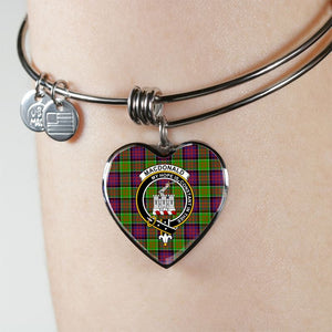 Macdonald Of Clan Ranald Tartan Silver Bangle - M8 Jewelries