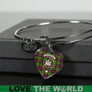 Macdonald Of Clan Ranald Tartan Silver Bangle - BN