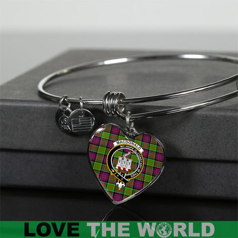 Macdonald Of Clan Ranald Tartan Silver Bangle - Sd1 Jewelries