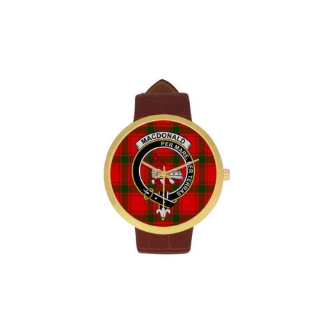 Macdonald Of Sleat Clan Badge Tartan Watch