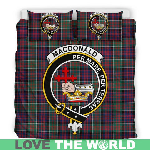Macdonald Tartan Clan Badge Bedding Set C19 Bedding Set - Beige / King Sets