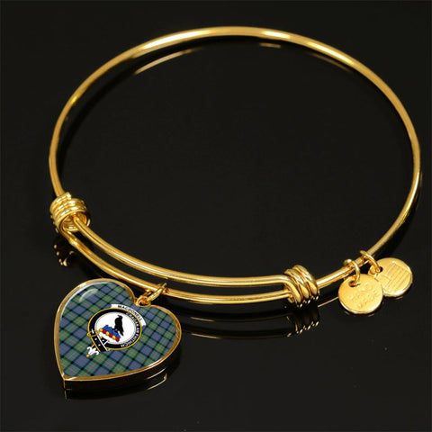 Macdonnell Of Glengarry Ancient Tartan Golden Bangle - Tm Adjustable Bangle Jewelries
