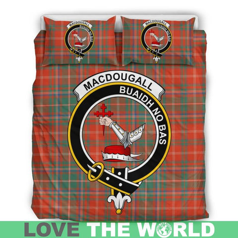Macdougall Ancient Tartan Clan Badge Bedding Set Ha9 Bedding Set - Black Black / Queen/full Sets