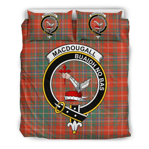 Macdougall Ancient Clan Badge Tartan Bedding Set Ha9 Bedding Set - Black Black / Queen/full Sets
