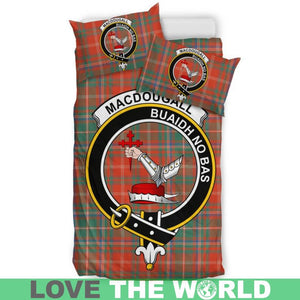 Macdougall Ancient Clan Badge Tartan Bedding Set K7